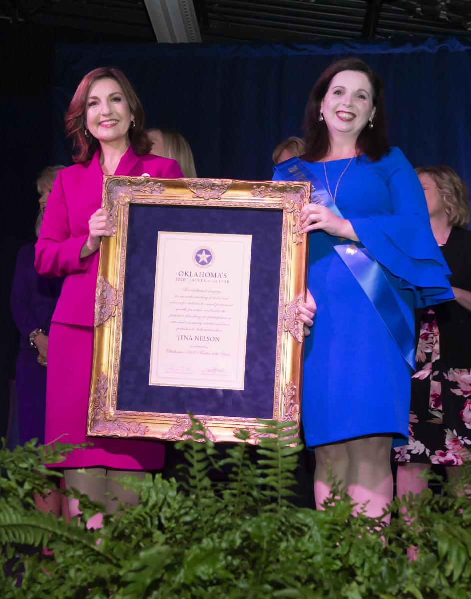 Jena Nelson and Supt. Hofmeister