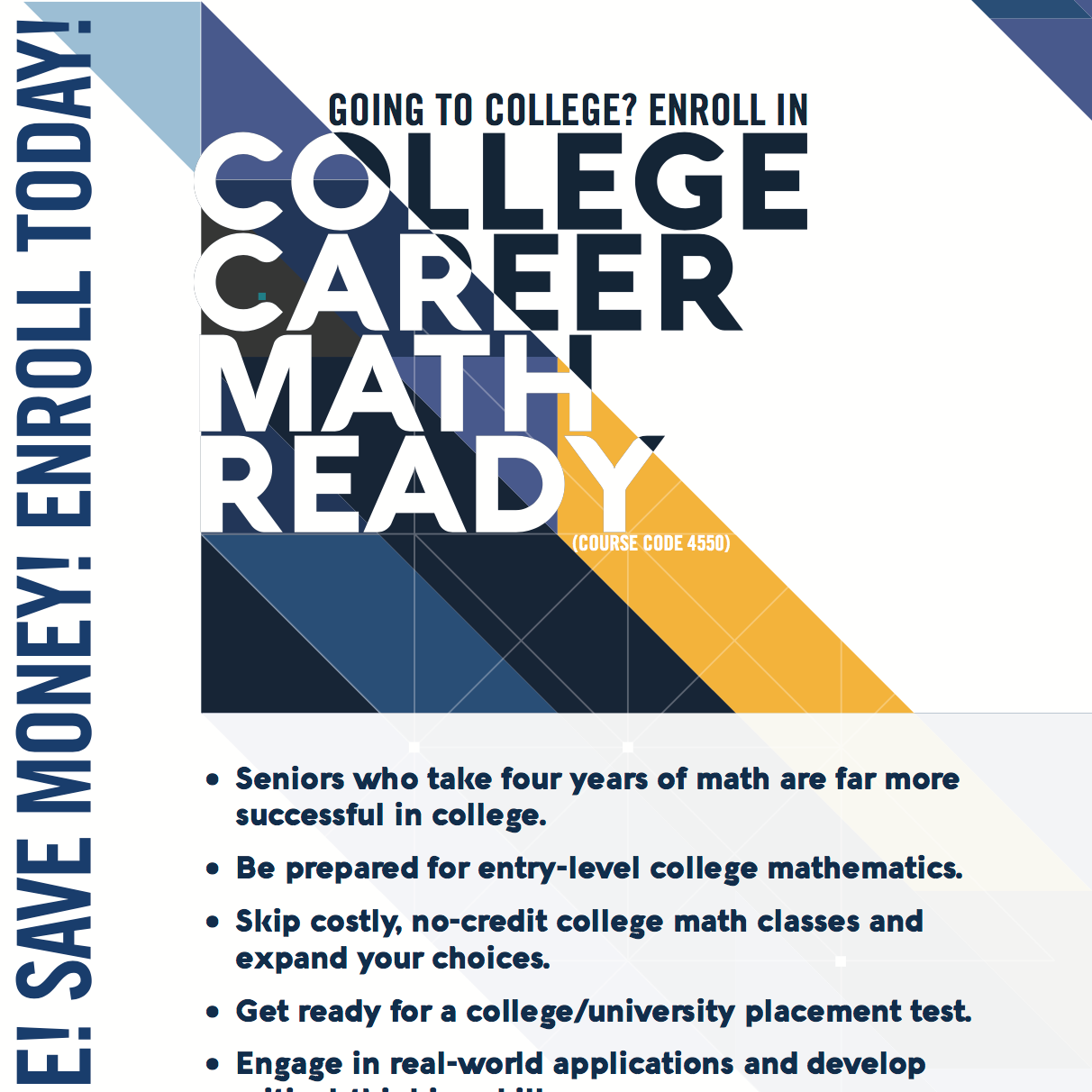 College career math ready oklahoma state department of education school poster xflitez Gallery