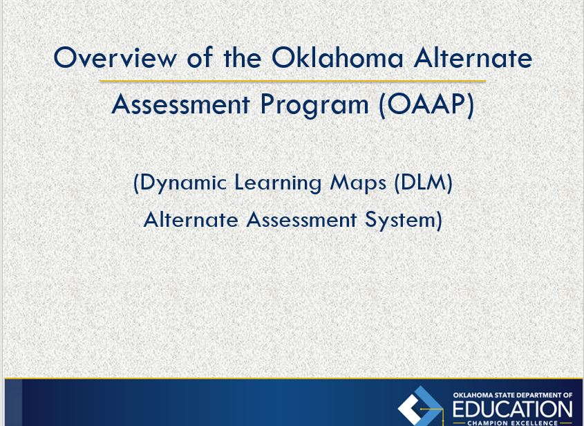 Special Ed Assessment Oklahoma State Department Of Education