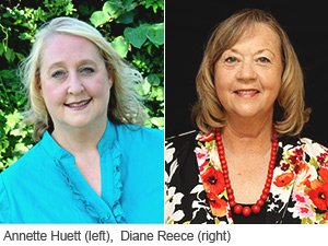 Presidential Award Recipients  - Annette Huett (left) and Diane Reece (right)