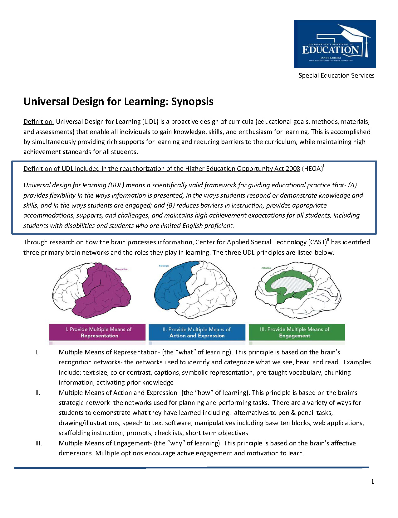 UDL Synopsis