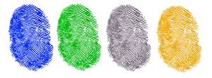 multicolored fingerprints