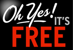 Oh Yes! Its Free sign