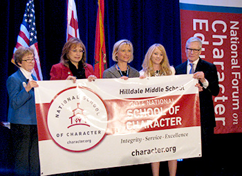 Hilldale Middle School in Muskogee receives national recognition from the Washington D.C.-based Character.org.
