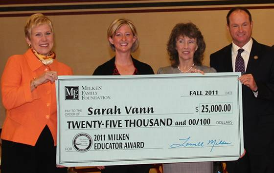 Supt. Janet Barresi Awards Milken Award