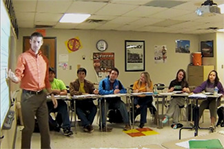 Jason Proctor in classroom