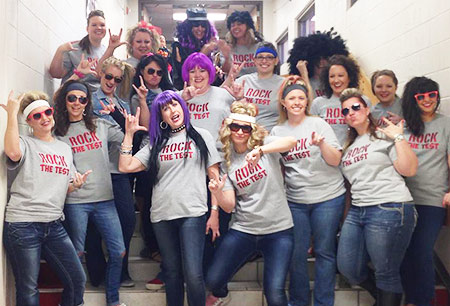 Weatherford West teachers - Rock the Test