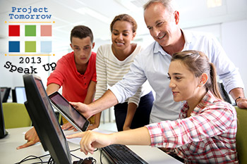 Project Tomorrow - Speak Up 2013 | teachers and students looking at technology in classroom