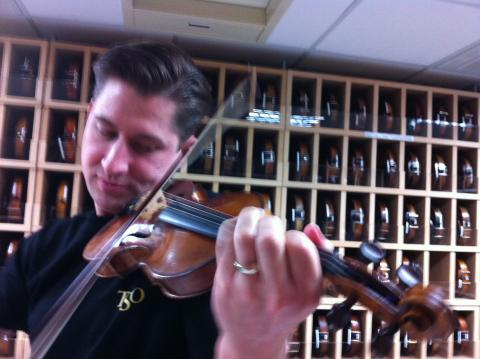 Peter Markes plays a very expensive violin.