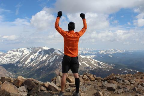 Jason Proctor on top of Mt. Elbert in Leadville, Colo.