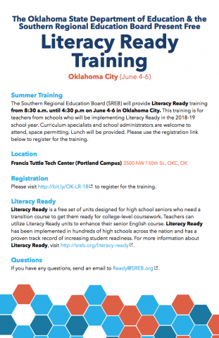 2018-2019 Readiness Courses | Oklahoma State Department of Education